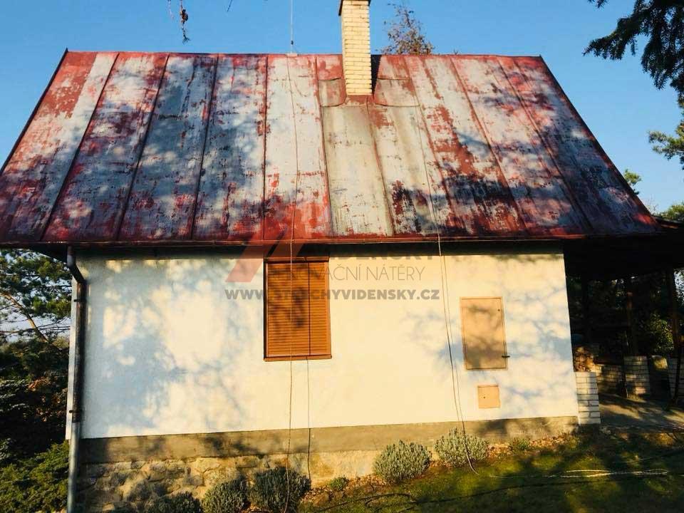 Vídenský | Renovační nátěr plechové střechy 01 - Původní stav