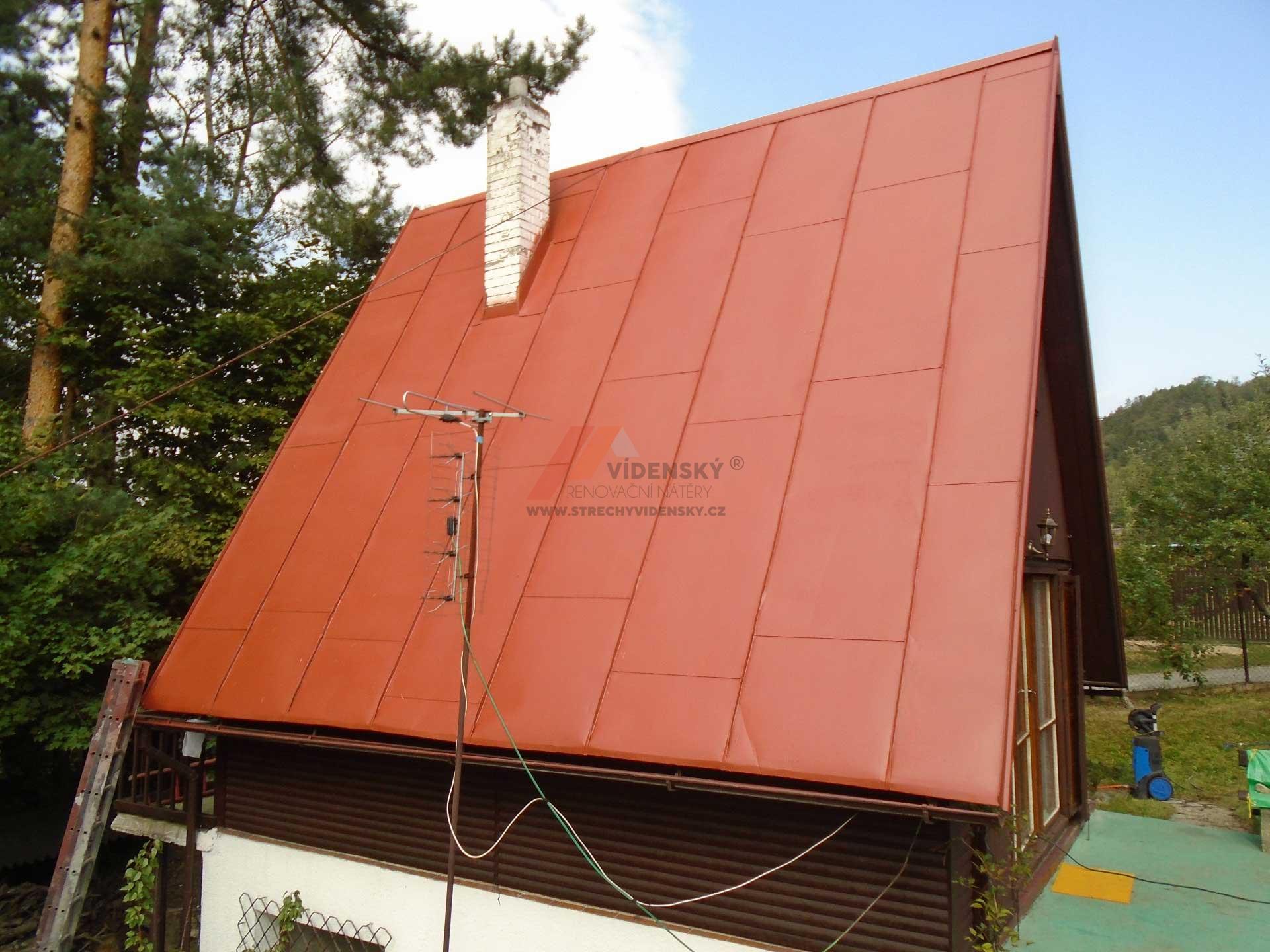 Vídenský | Renovační nátěr plechové střechy 02 - Po renovaci