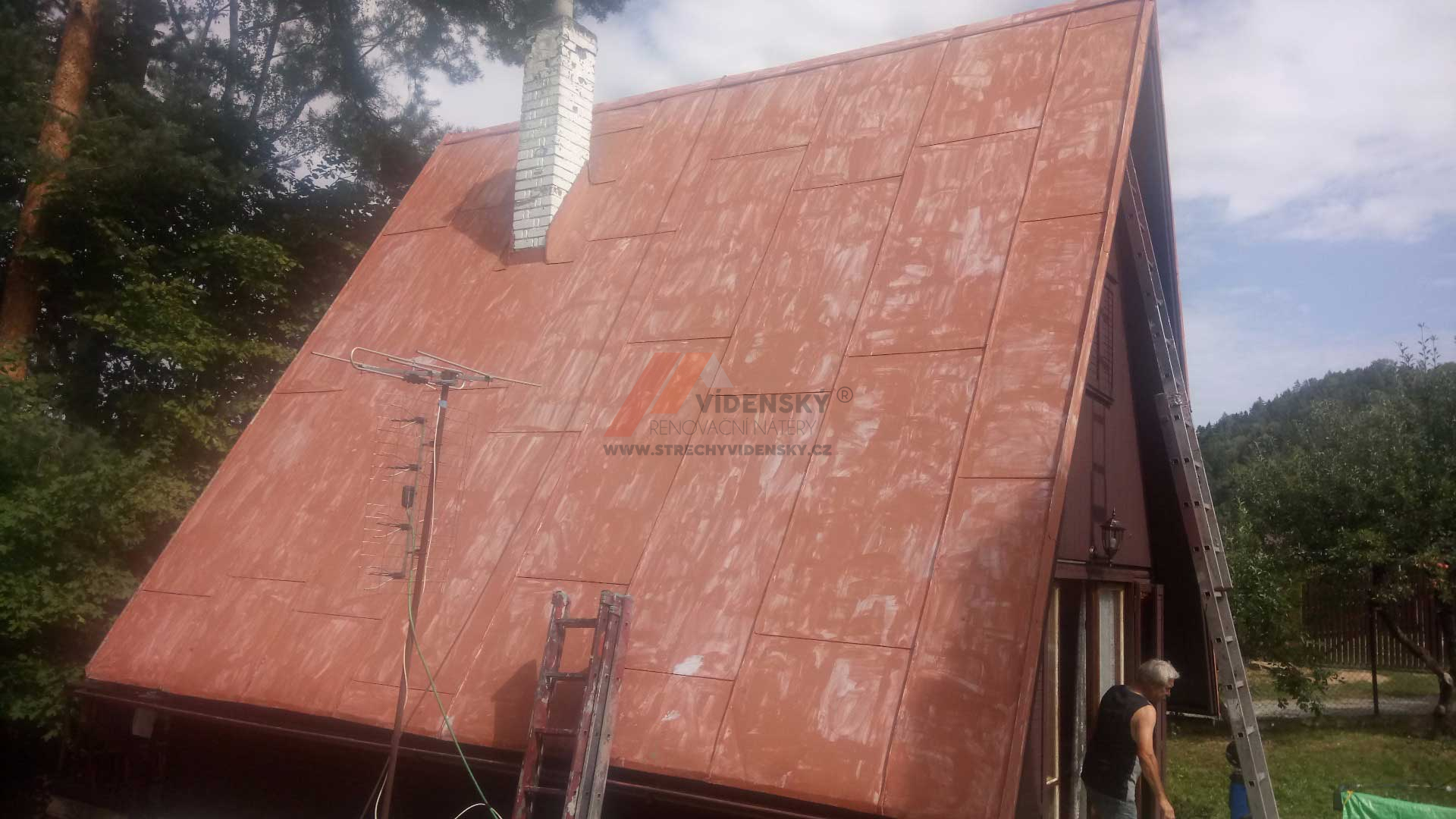 Vídenský | Renovační nátěr plechové střechy 02 - Původní stav