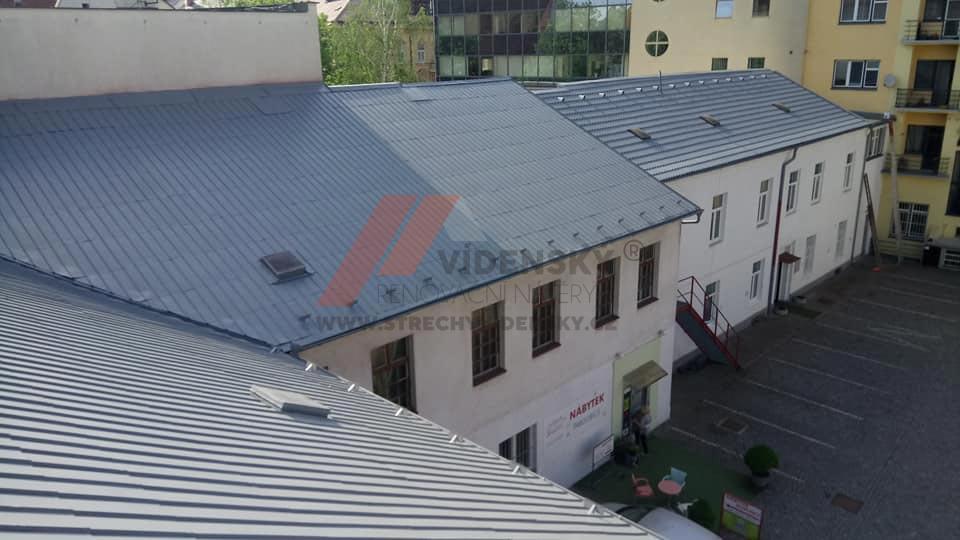 Vídenský | Renovační nátěr plechové střechy 03 - Po renovaci