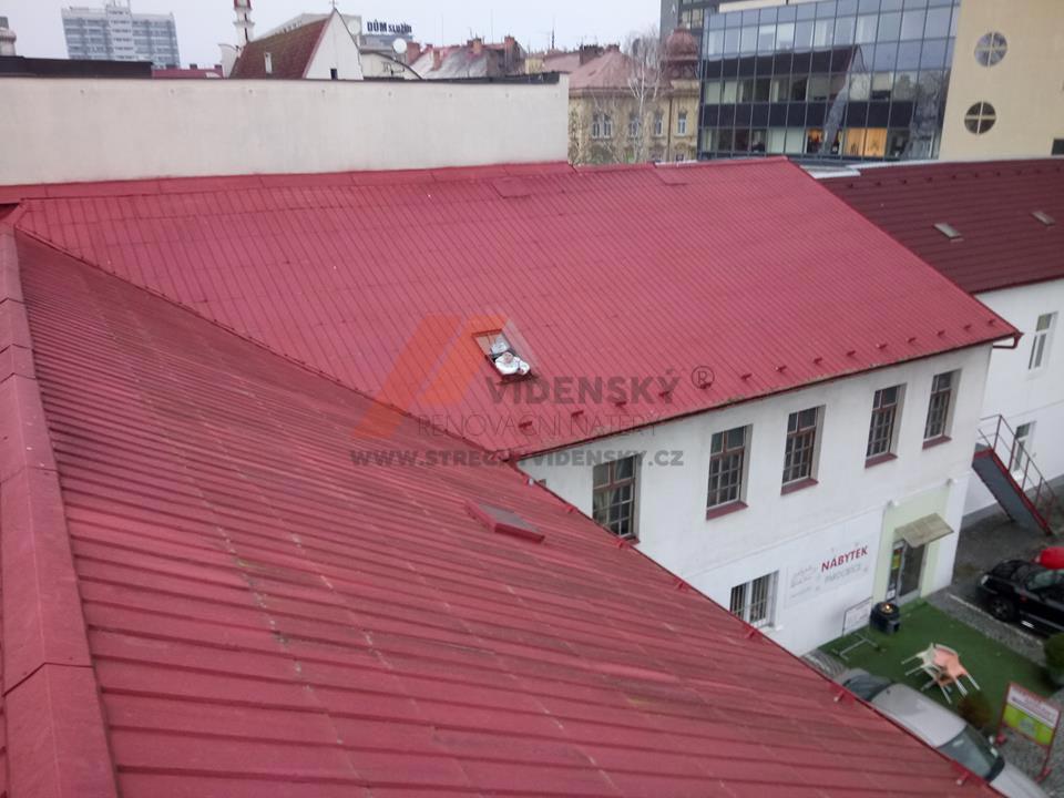 Vídenský | Renovační nátěr plechové střechy 03 - Původní stav
