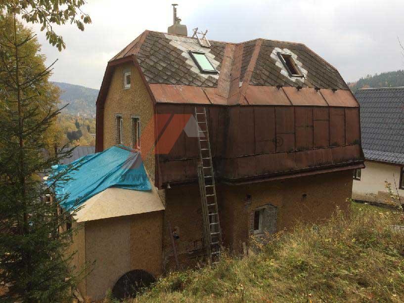 Vídenský | Renovační nátěr eternitové střechy 03 - Původní stav
