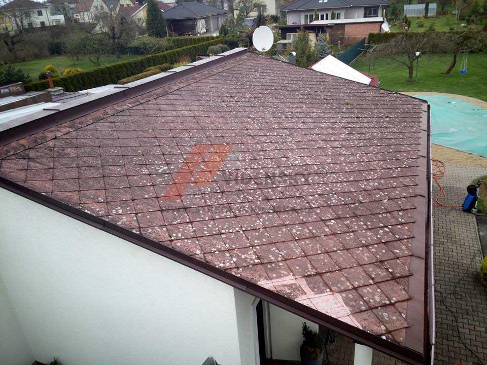 Vídenský | Renovační nátěr eternitové střechy 04 - Původní stav