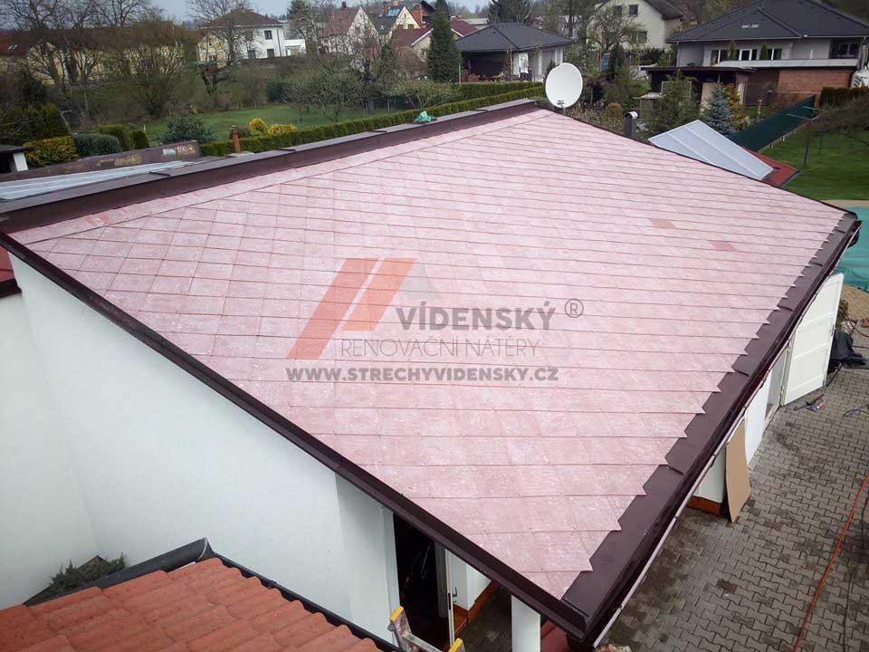 Vídenský | Renovační nátěr eternitové střechy 04 - Vyčištěná střecha