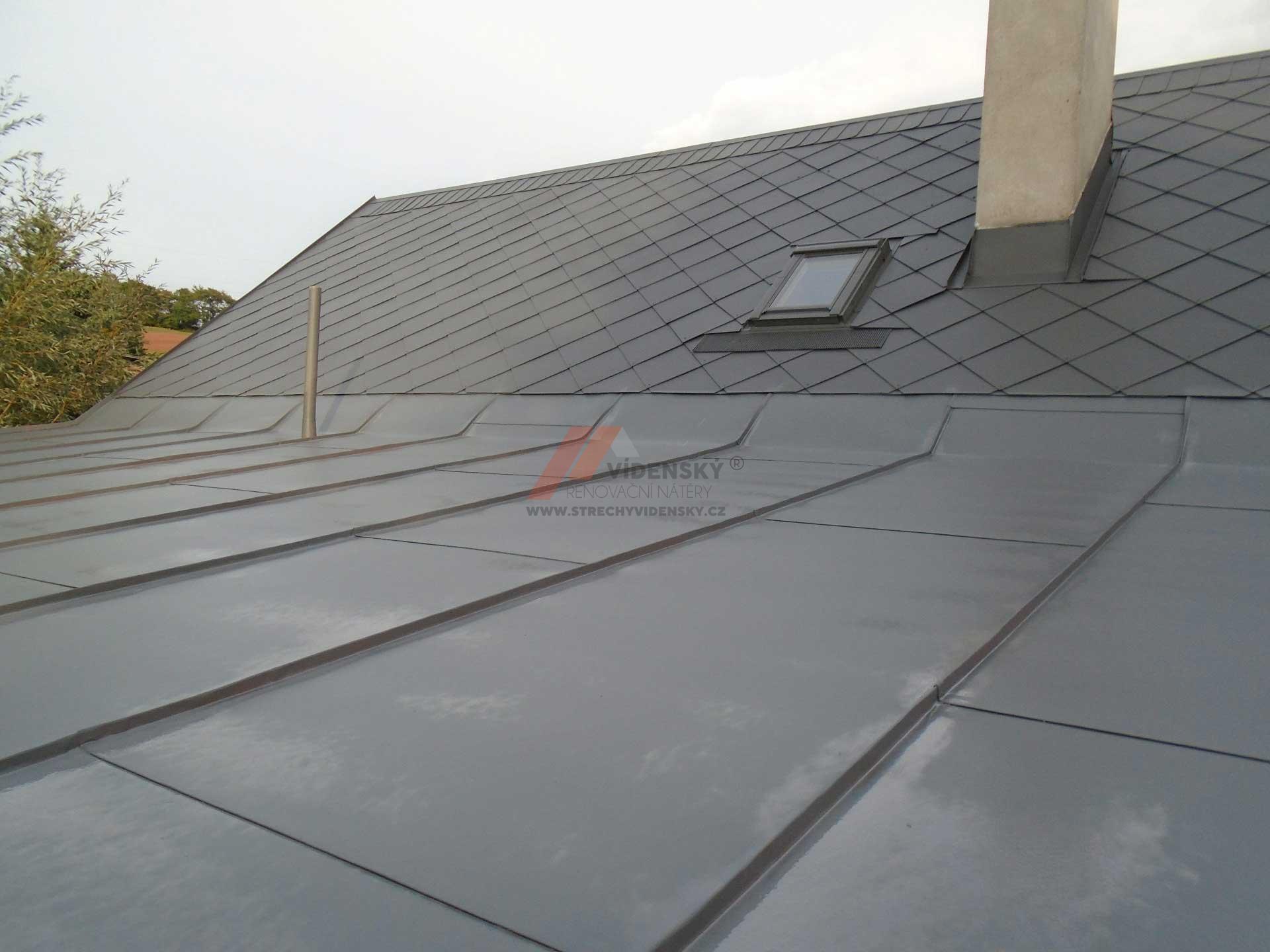 Vídenský | Renovační nátěr plechové střechy 05 - Po renovaci