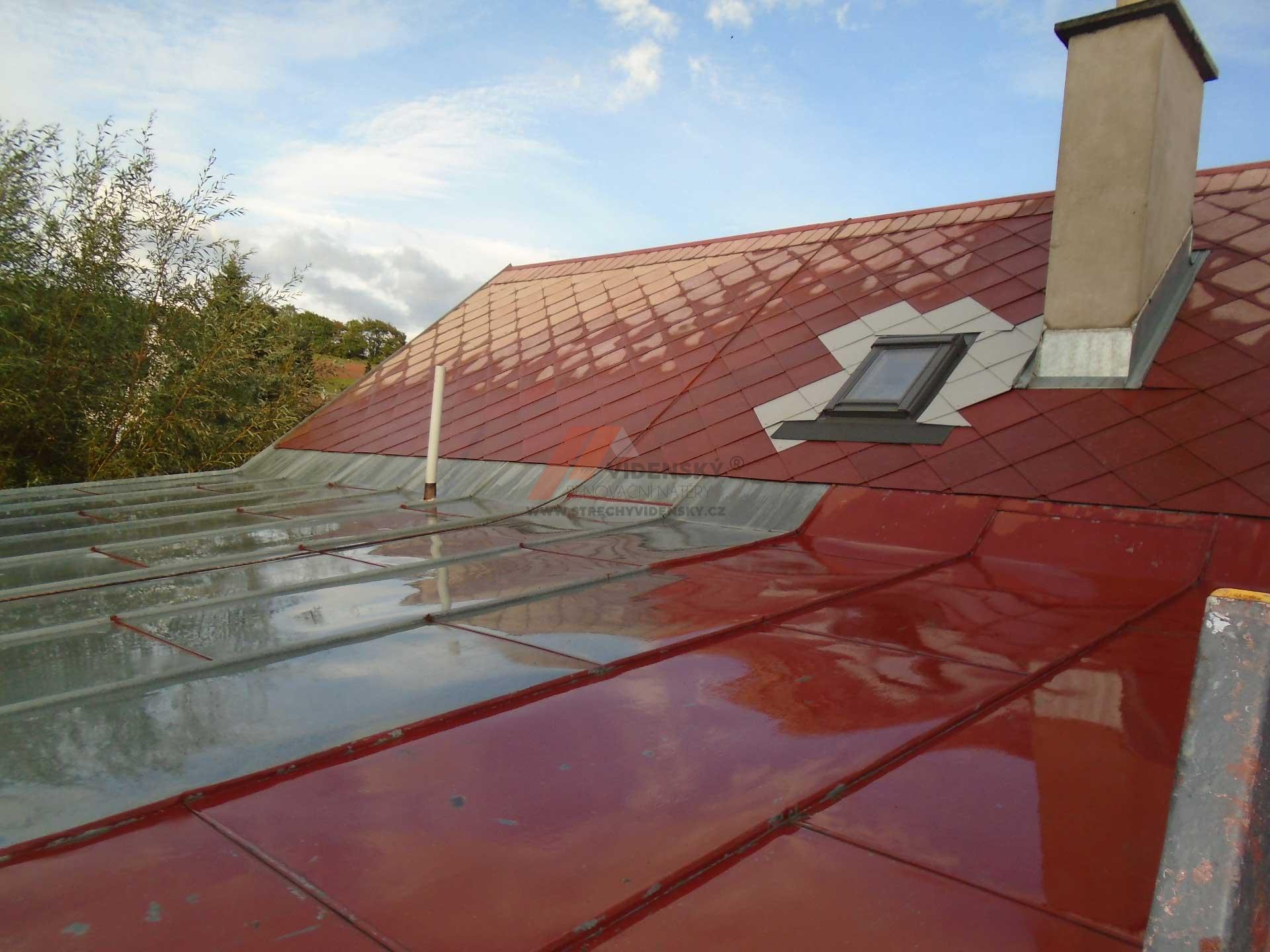 Vídenský | Renovační nátěr plechové střechy 05 - Původní stav
