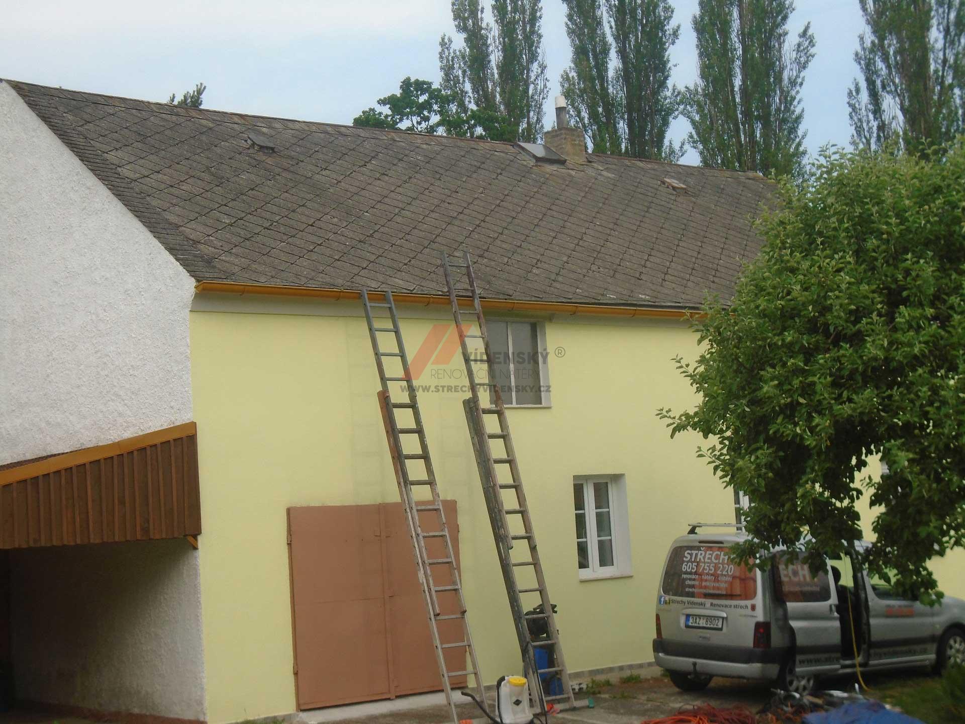 Vídenský | Renovační nátěr eternitové střechy 05 - Původní stav