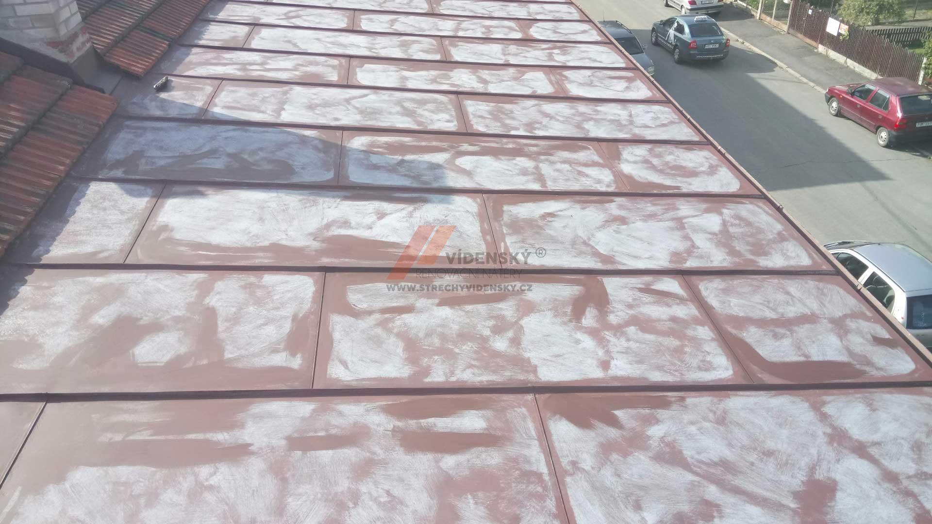Vídenský | Renovační nátěr plechové střechy 06 - Původní stav