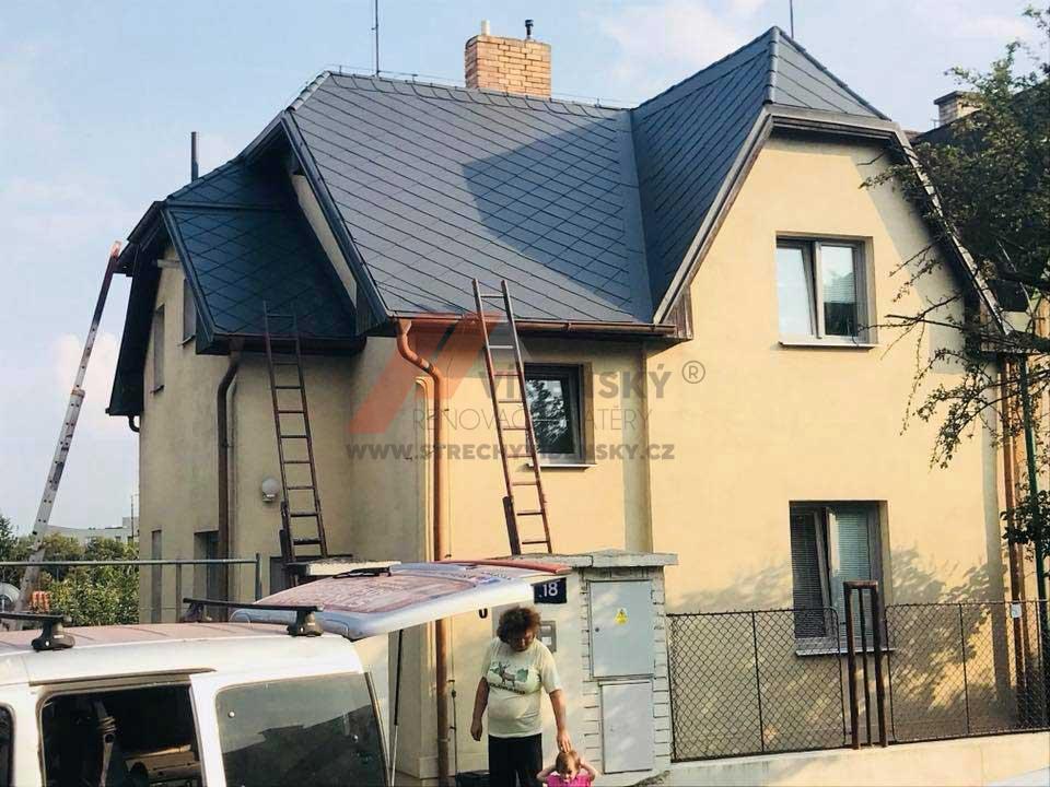 Vídenský | Renovační nátěr eternitové střechy 07 - Antracitový odstín