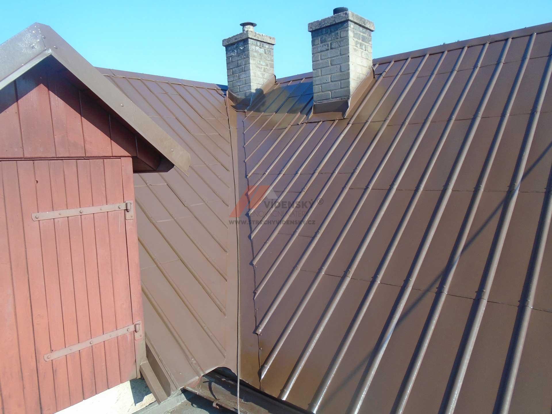Vídenský | Renovační nátěr plechové střechy 07 - Po renovaci