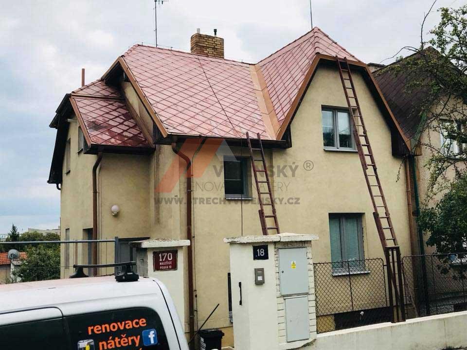 Vídenský | Renovační nátěr eternitové střechy 07 - Po vyčištění