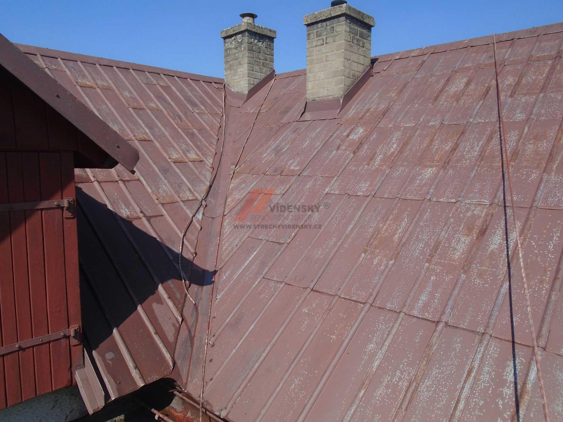 Vídenský | Renovační nátěr plechové střechy 07 - Původní stav