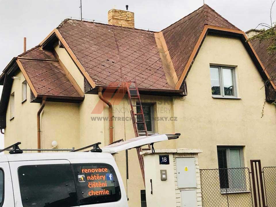 Vídenský | Renovační nátěr eternitové střechy 07 - Původní stav