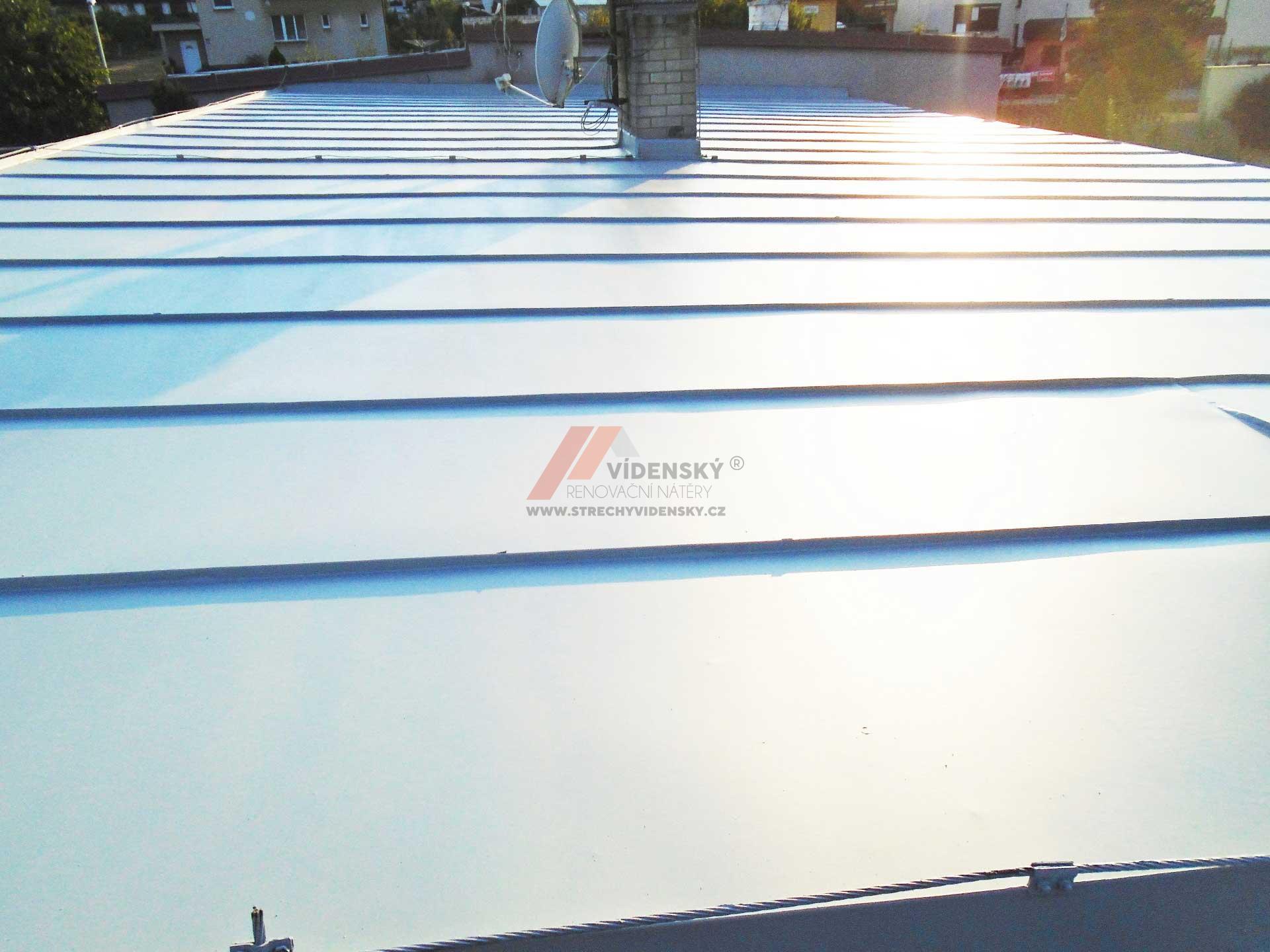 Vídenský | Renovační nátěr plechové střechy 09 - Po renovaci