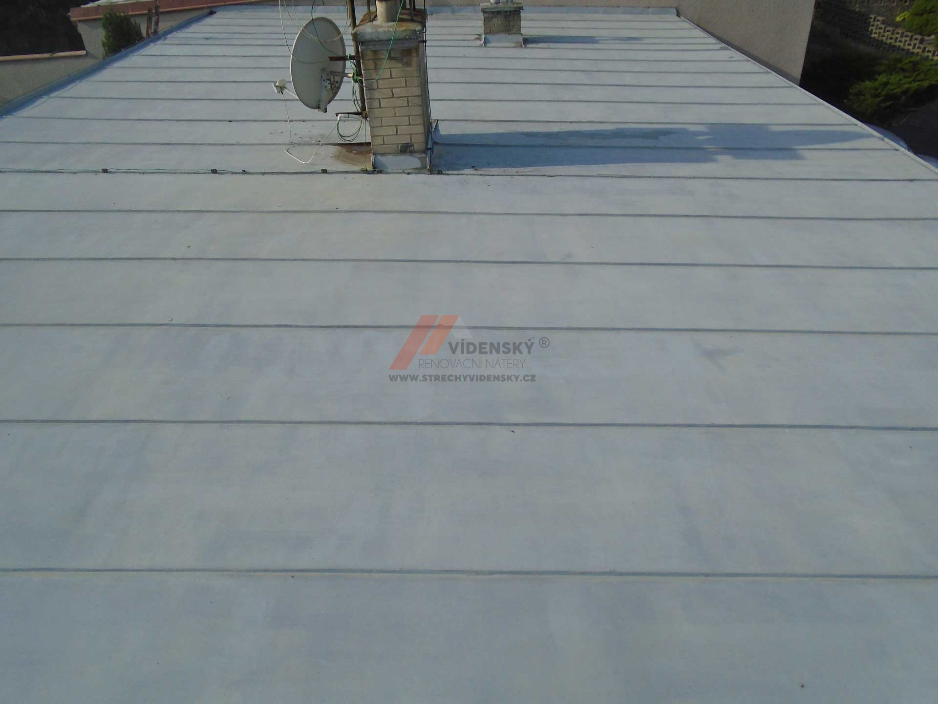 Vídenský | Renovační nátěr plechové střechy 09 - Původní stav
