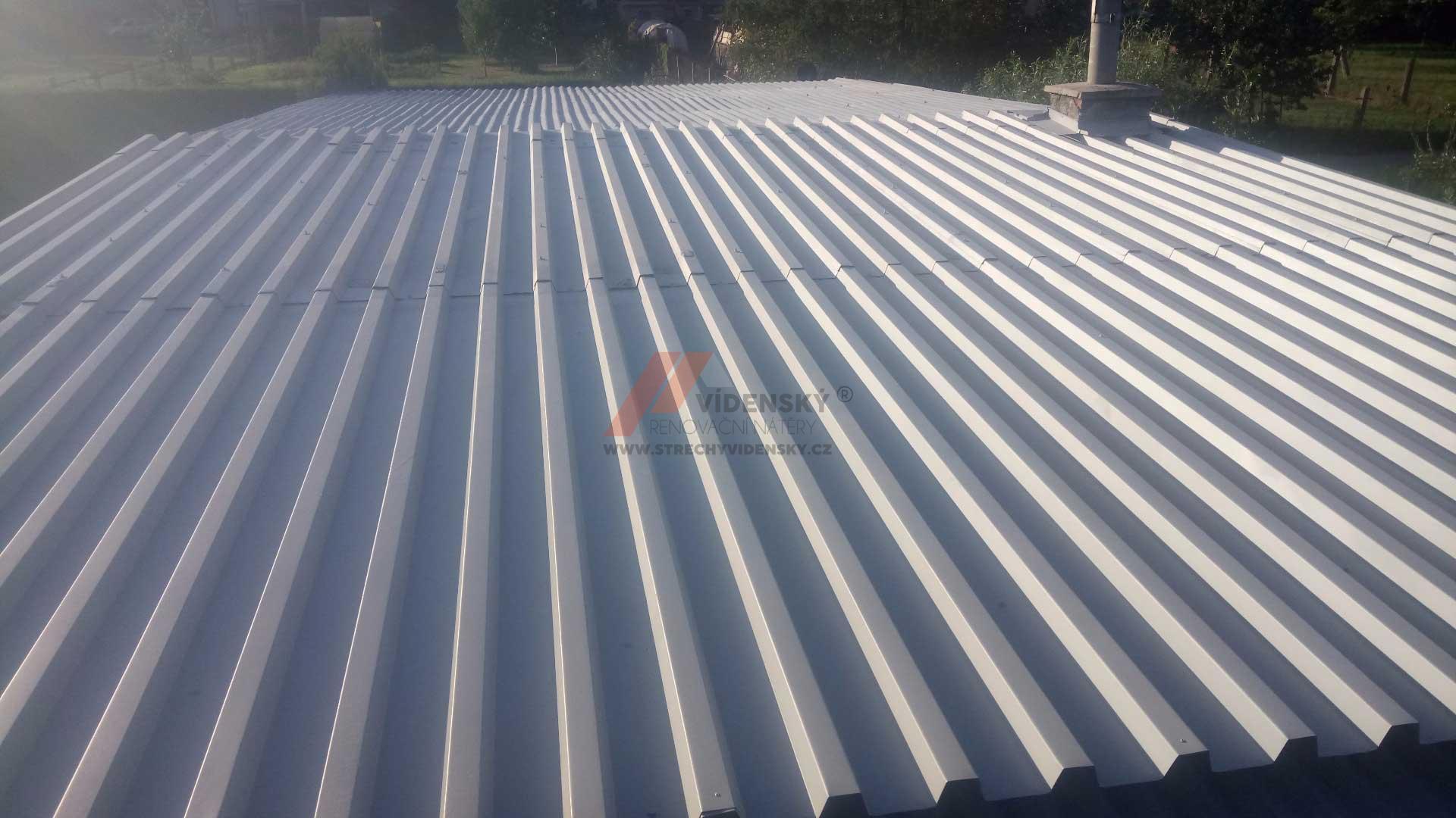 Vídenský | Renovační nátěr plechové střechy 10 - Po renovaci